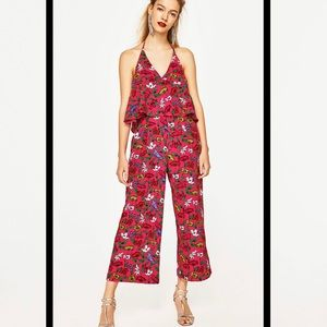 Zara floral jumpsuit in XS. Worn once